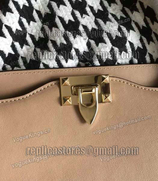 Valentino Rockstud Large Tote Apricot Original Leather Golden Nail-1