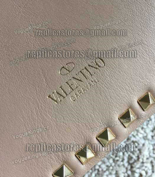 Valentino Rockstud Large Tote Apricot Original Leather Golden Nail-3