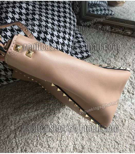 Valentino Rockstud Large Tote Apricot Original Leather Golden Nail-4