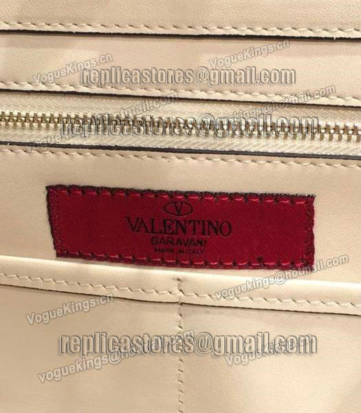 Valentino Rockstud Large Tote Ivory White Original Leather Golden Nail-7