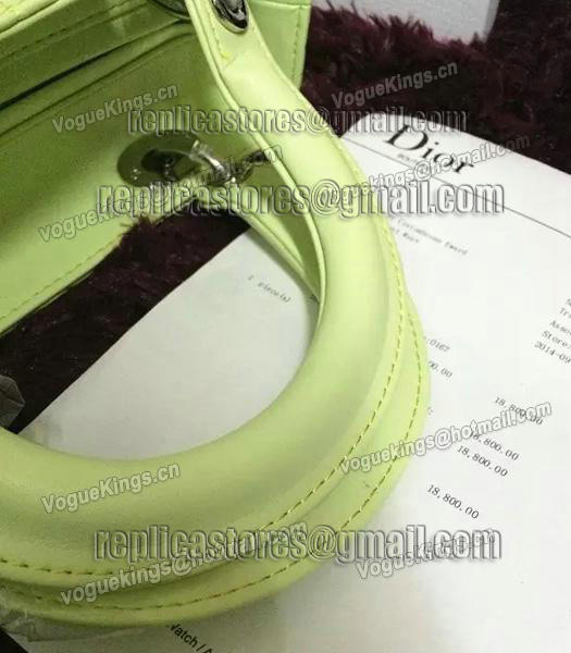 Christian Dior Lambskin Leather 24cm Tote Bag Lucifer Green Silver Metal-1