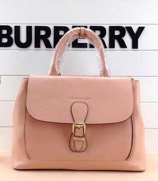 Burberry The Medium Saddle Bag Pink Calfskin Leather
