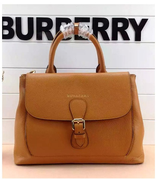 Burberry The Medium Saddle Bag Brown Calfskin Leather