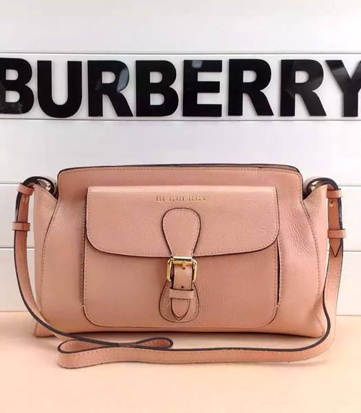 Burberry The Saddle Bag Calfskin Leather Crossbody Bag In Pink