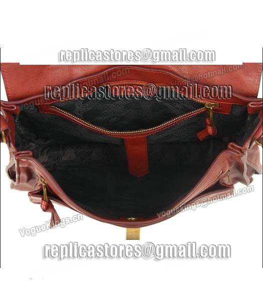 Proenza Schouler PS1 Small Satchel Bag Lambskin Leather Jujube Red-4