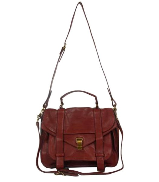 Proenza Schouler PS1 Small Satchel Bag Lambskin Leather Jujube Red