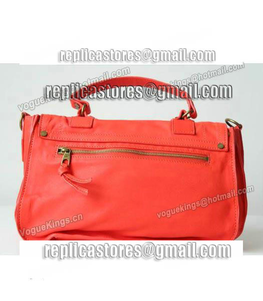 Proenza Schouler PS1 Medium Satchel Bag Lambskin Leather Red-5