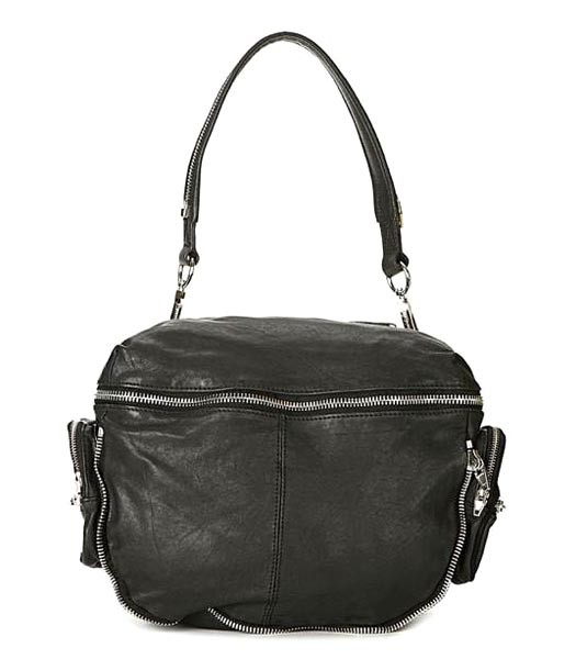 Alexander Wang 49938 Jane Shoulder Bags Black Leather