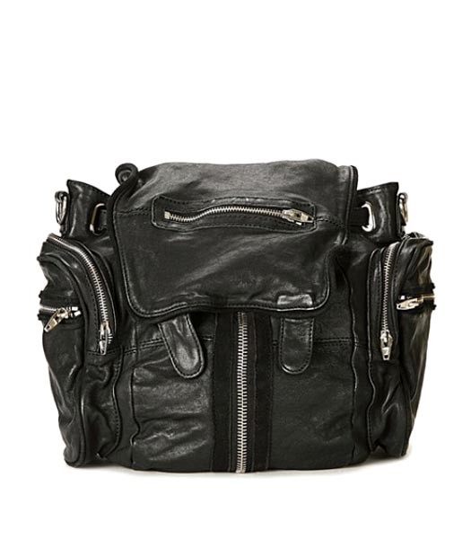 Alexander Wang 49939 Marty Nubuck Effect Backpack In Black
