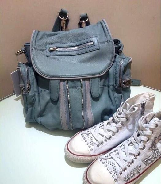 Alexander Wang 49939 Marty Nubuck Effect Backpack In Light Blue