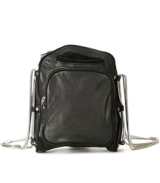 Alexander Wang Brenda Camera Crossbody Bag Washed Black Nickel