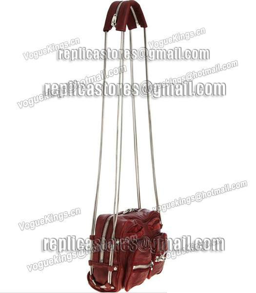 Alexander Wang Brenda Chain Shoulder Bag In Washed Jujube Red-2