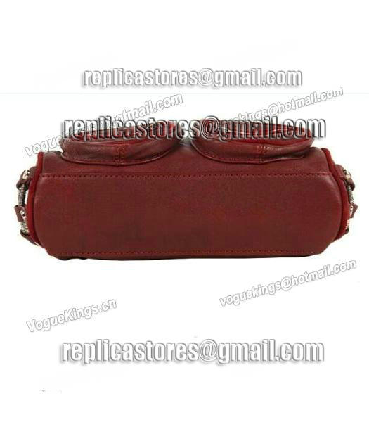 Alexander Wang Brenda Chain Shoulder Bag In Washed Jujube Red-3
