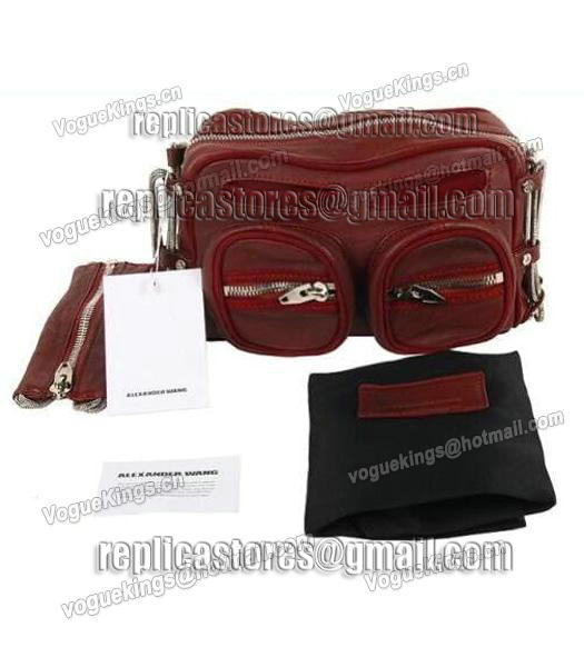 Alexander Wang Brenda Chain Shoulder Bag In Washed Jujube Red-4