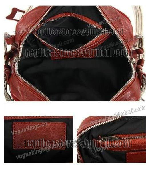 Alexander Wang Brenda Chain Shoulder Bag In Washed Jujube Red-5