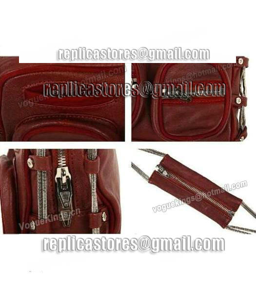 Alexander Wang Brenda Chain Shoulder Bag In Washed Jujube Red-6