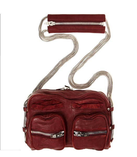 Alexander Wang Brenda Chain Shoulder Bag In Washed Jujube Red