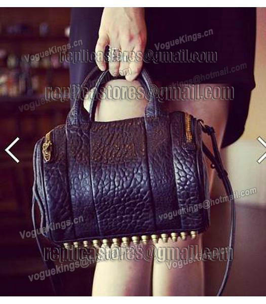Alexander Wang A-212 Coco Small Duffle Bag Black Leather-1