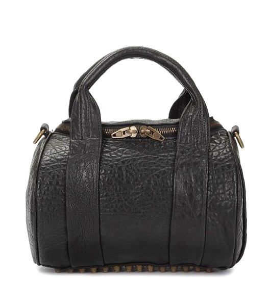 Alexander Wang A-212 Coco Small Duffle Bag Black Leather