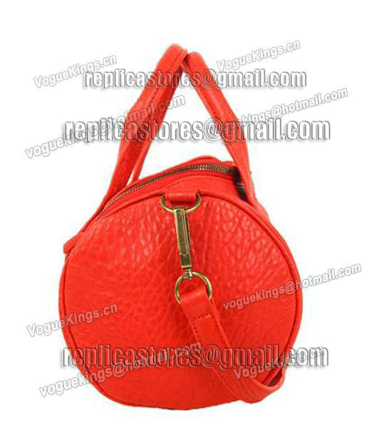 Alexander Wang A-212 Coco Small Duffle Bag Orange Leather-2