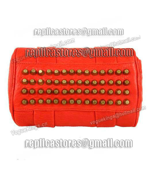 Alexander Wang A-212 Coco Small Duffle Bag Orange Leather-3