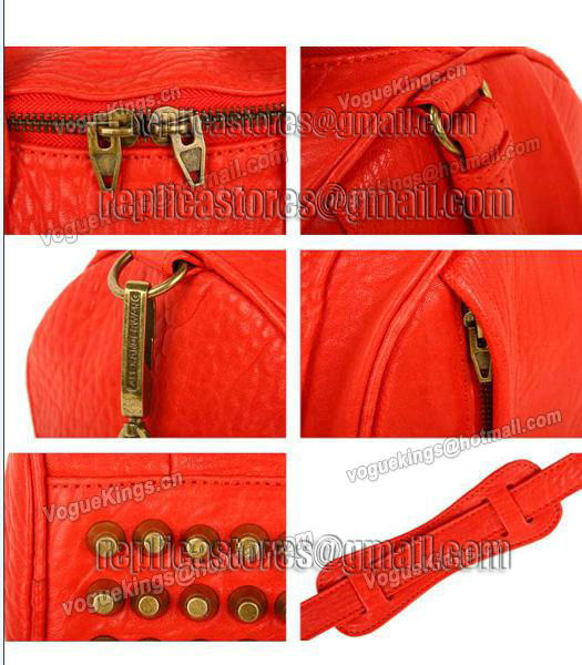 Alexander Wang A-212 Coco Small Duffle Bag Orange Leather-5