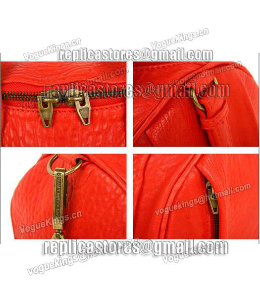Alexander Wang A-212 Coco Small Duffle Bag Orange Leather-6