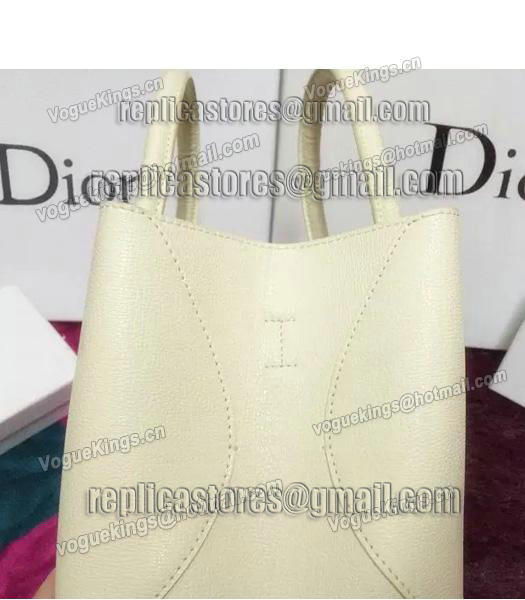 Christian Dior 35cm Exclusive New Tote Bag 60001 White Leather-1