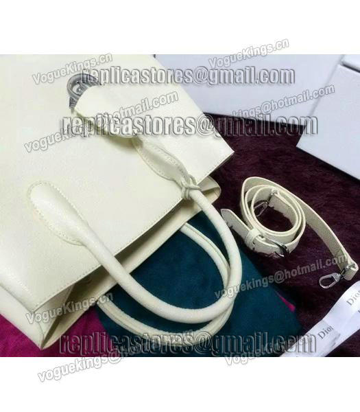 Christian Dior 35cm Exclusive New Tote Bag 60001 White Leather-2