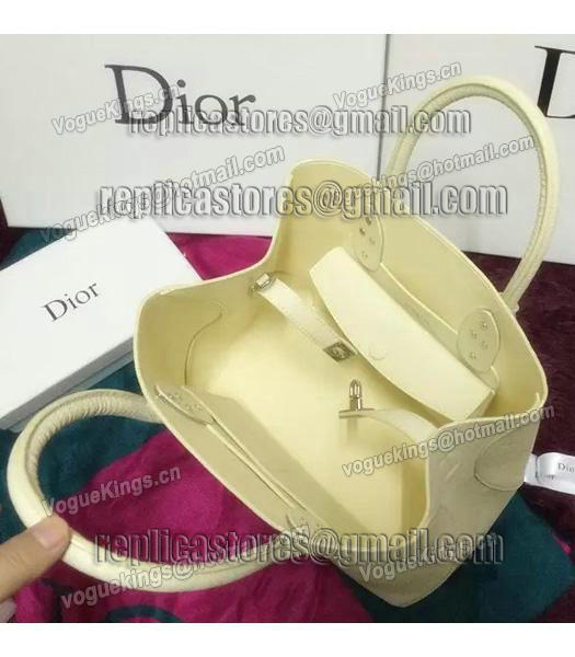 Christian Dior 35cm Exclusive New Tote Bag 60001 White Leather-4