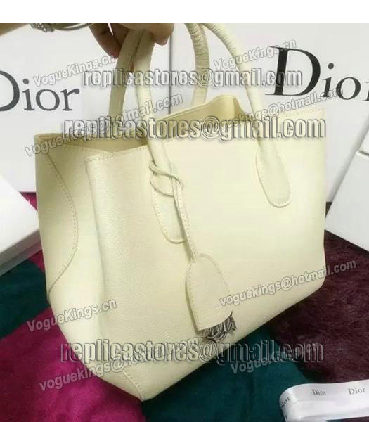 Christian Dior 35cm Exclusive New Tote Bag 60001 White Leather-5