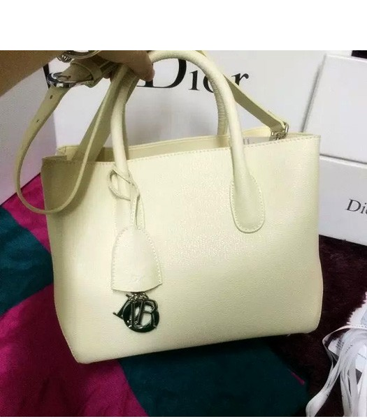 Christian Dior 35cm Exclusive New Tote Bag 60001 White Leather