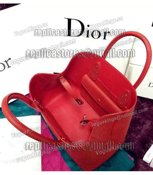 Christian Dior 35cm Exclusive New Tote Bag 60001 Red Leather-1