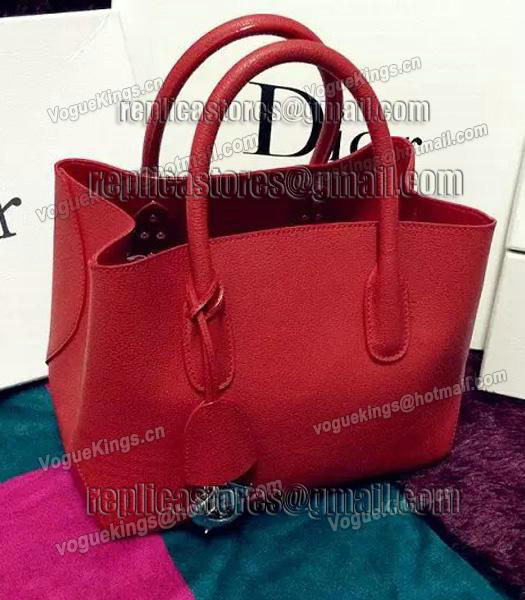 Christian Dior 35cm Exclusive New Tote Bag 60001 Red Leather-2