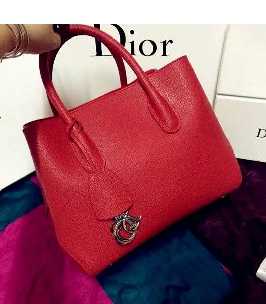 Christian Dior 35cm Exclusive New Tote Bag 60001 Red Leather