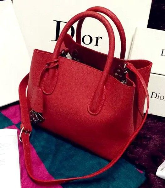Christian Dior 28cm Exclusive New Tote Bag 60001 Red Leather