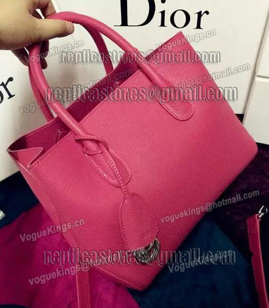 Christian Dior 35cm Exclusive New Tote Bag 60001 Plum Red Leather-1