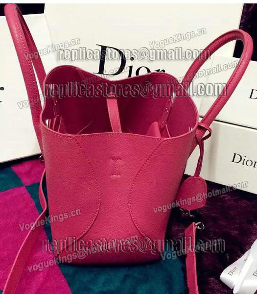Christian Dior 35cm Exclusive New Tote Bag 60001 Plum Red Leather-2