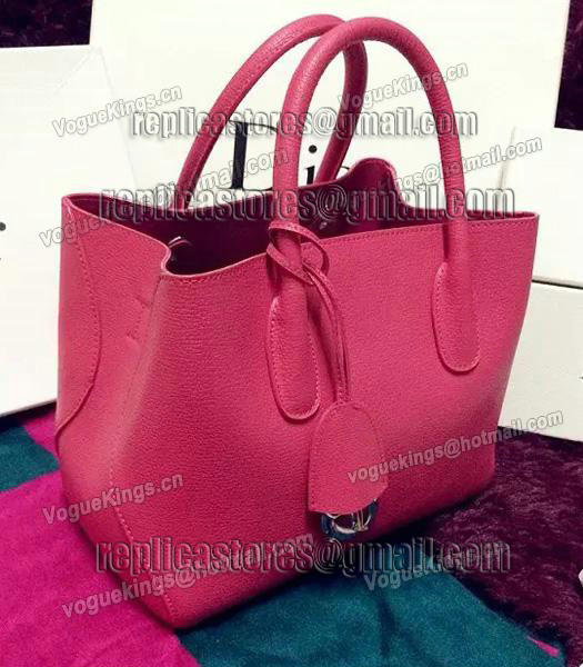 Christian Dior 35cm Exclusive New Tote Bag 60001 Plum Red Leather-3