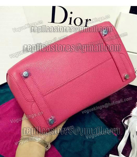 Christian Dior 35cm Exclusive New Tote Bag 60001 Plum Red Leather-4