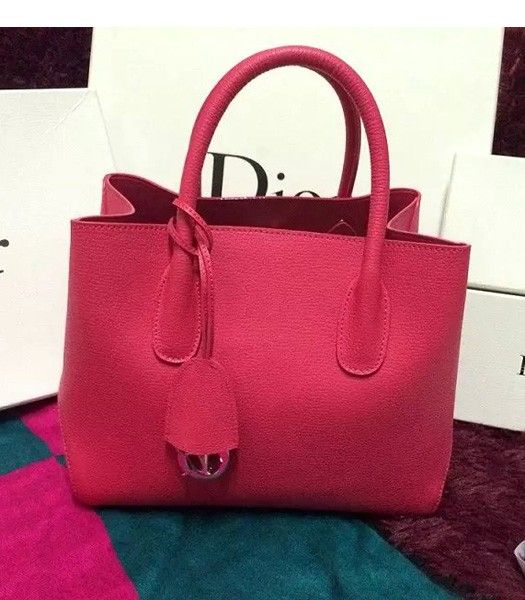Christian Dior 35cm Exclusive New Tote Bag 60001 Plum Red Leather