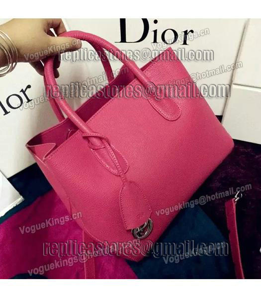 Christian Dior 28cm Exclusive New Tote Bag 60001 Plum Red Leather-2