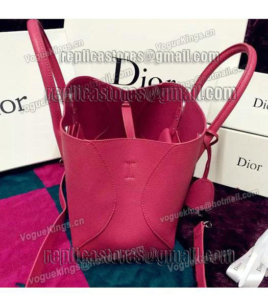 Christian Dior 28cm Exclusive New Tote Bag 60001 Plum Red Leather-3