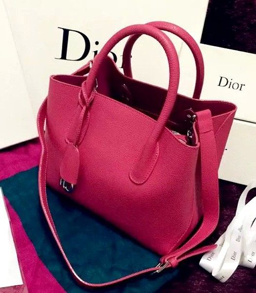 Christian Dior 28cm Exclusive New Tote Bag 60001 Plum Red Leather