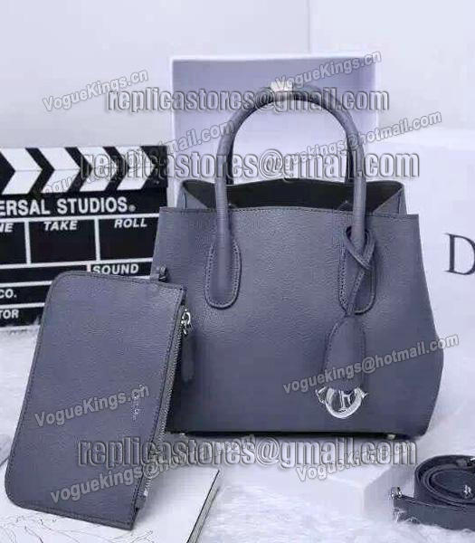 Christian Dior 28cm Exclusive New Tote Bag 60001 Grey Leather_1