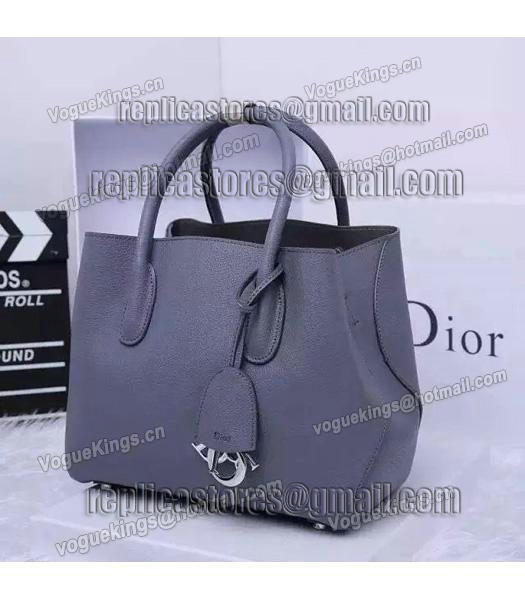 Christian Dior 28cm Exclusive New Tote Bag 60001 Grey Leather_3