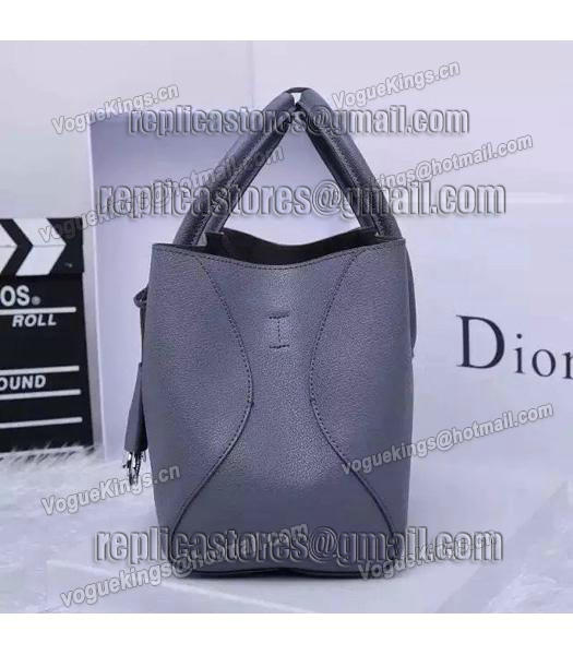 Christian Dior 28cm Exclusive New Tote Bag 60001 Grey Leather_5