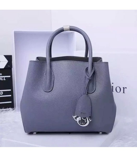 Christian Dior 28cm Exclusive New Tote Bag 60001 Grey Leather