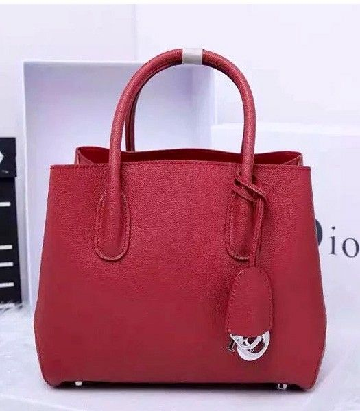 Christian Dior 35cm Exclusive New Tote Bag 60001 Wine Red Leather