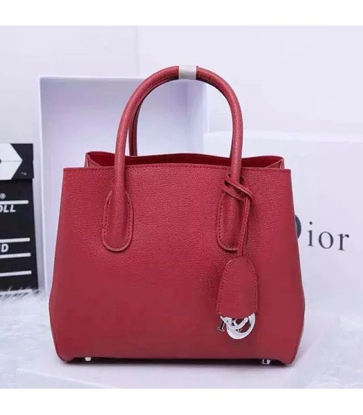 Christian Dior 28cm Exclusive New Tote Bag 60001 Wine Red Leather